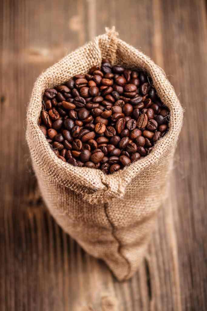 Coffee beans for a macchiato