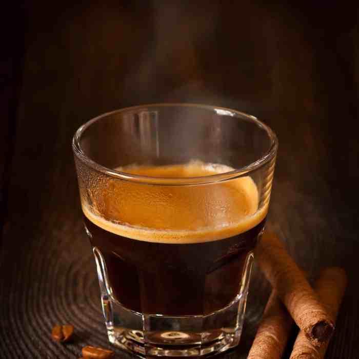 Espresso shot from an espresso machine; perfect for an Americano