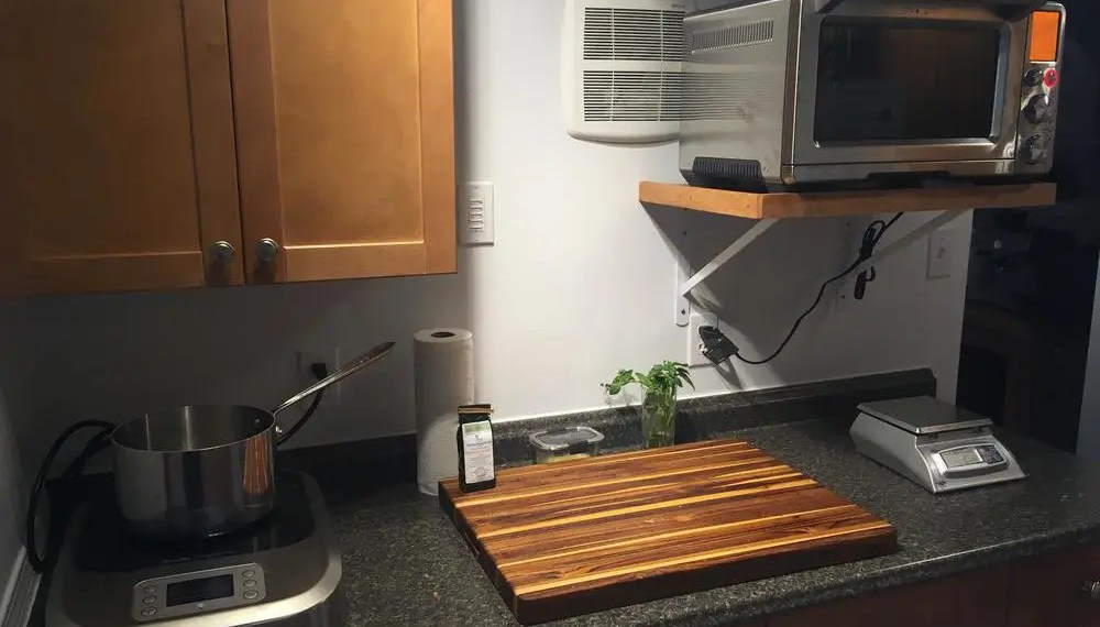 Basement kitchen with the Breville PolyScience Control Freak