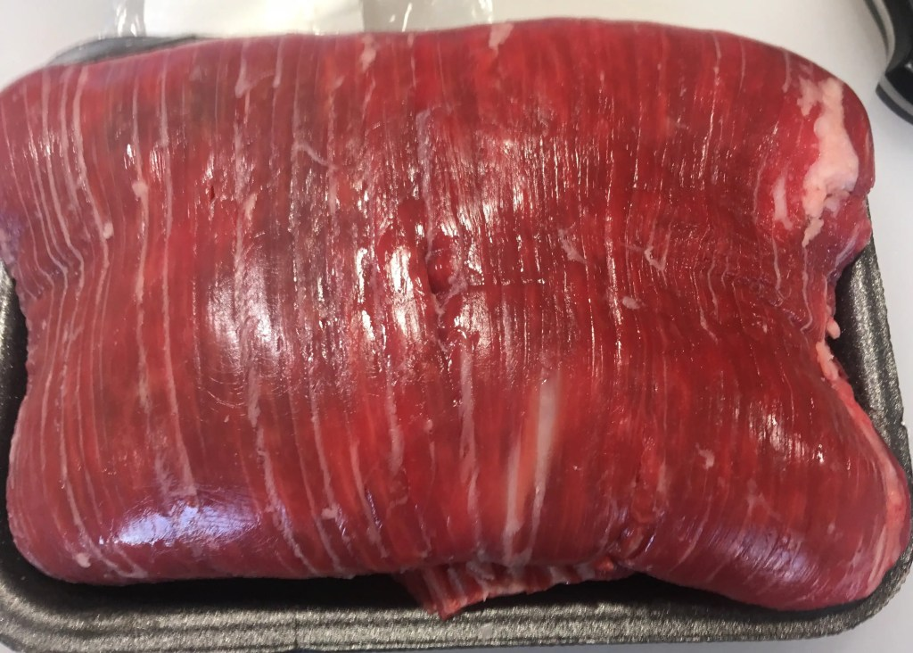 Muscle fiber direction of flank steak