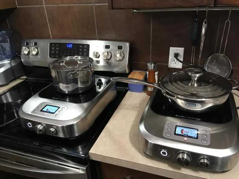 Two Breville PolyScience Control Freaks in use