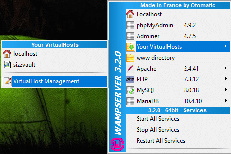WAMP server virtual host