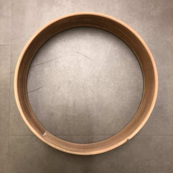 bovenaanzicht van de prachtige dubbele drum frame