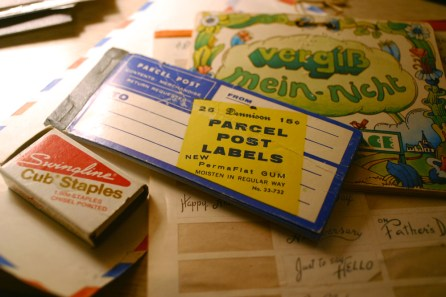 Vintage post labels