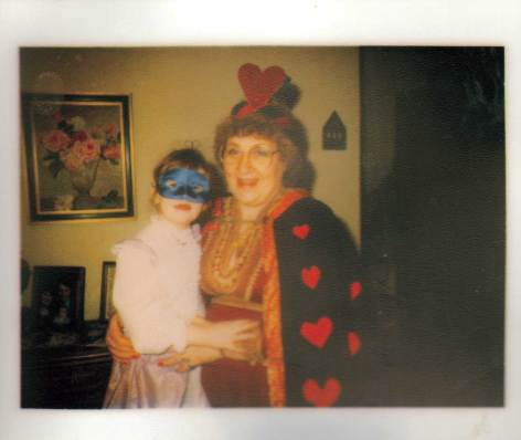 My mom and I on Fasching