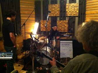 Don (engineer), Bill Rieflin, and Scott McCaughey's head.