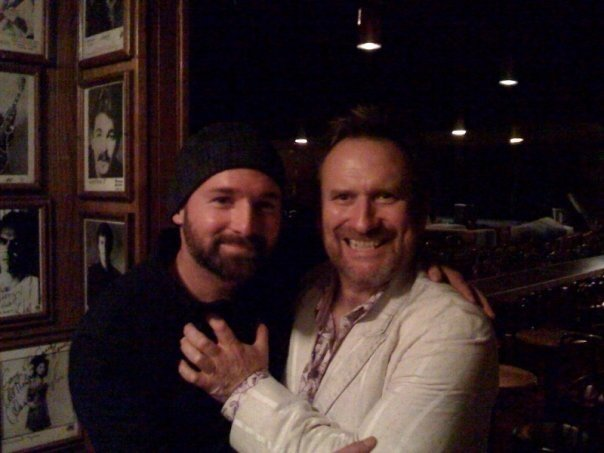 Saint John and Colin Hay after one of their shows together.