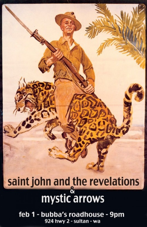 Saint John and the Revelations and Mystic Arrows at Bubba's Roadhouse.