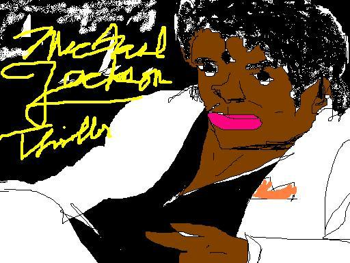 Michael Jackson Thriller in MS Paint