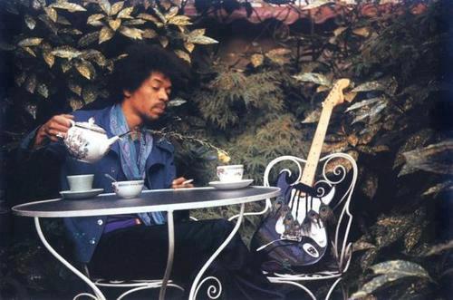 Jimi Hendrix pouring tea