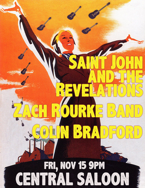 Live at the Central Saloon with Zach Rourke and Colin Bradford Nov 15