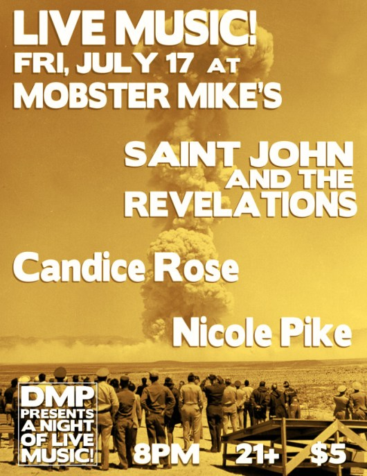 Saint John and the Revelations Nicole Pike Candice Rose at Mobster Mike's
