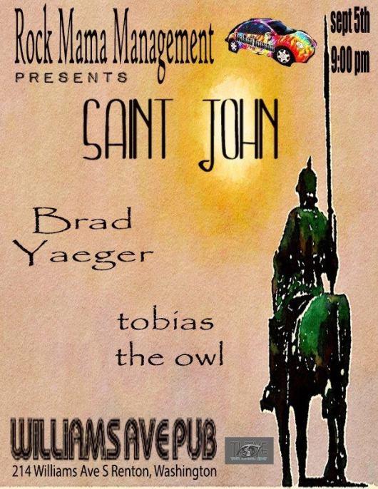 Saint John and Brad Yaeger and Tobias The Owl