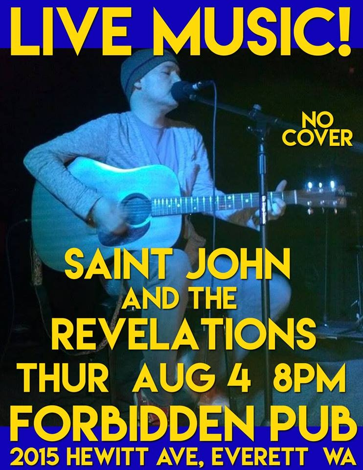 Solo Show At Forbidden Pub In Everett WA Thursday Aug 4 8PM
