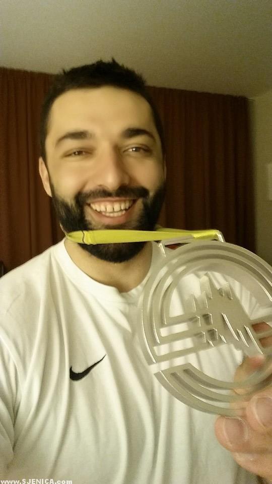Asmir sa srebrnom medaljom u Pragu - mart 2015