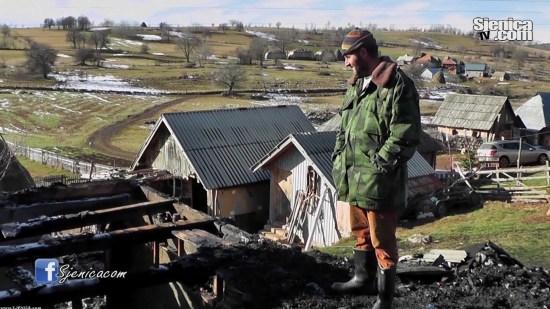 Daut Dzigal - Izgorela porodicna kuca u selu Trijebine