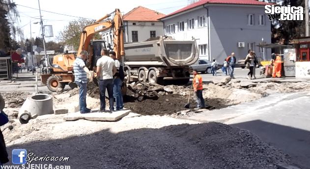Radovi u centru grada 05.05.2015.