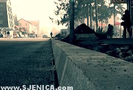 Sjenica i radovi na rekonstrukciji glavne ulice 20.12.2014.