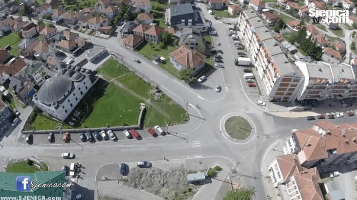 Sjenica iz vazduha, dron, dzamija sjenica, kruzni tok, opstina sjenica, septembar 2015