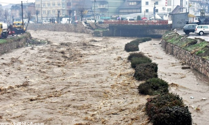 Velike stete od poplava - Novi Pazar - Mart 2016 (Tanjug)