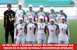Iraanse vrouwen of mannen voetbalteammini