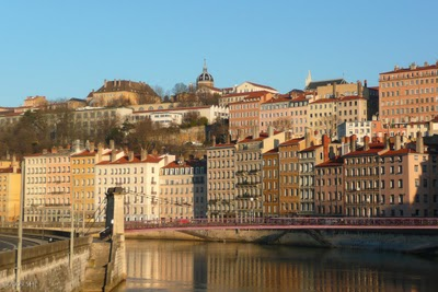 Passerelle St. Vincent-there are many walking bridges in Lyon. Nice!