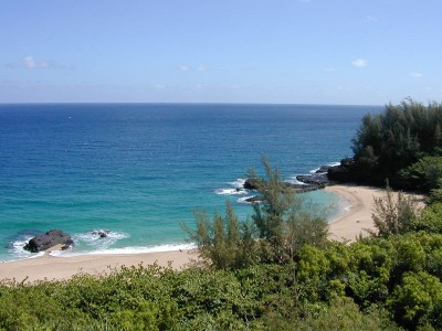 """Lumahai Beach, one site of filming for """"South Pacific."""""""