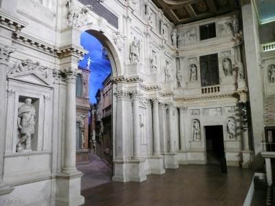 Inside Teatro Olimpico.