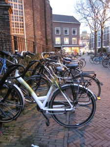 How do you know you are in Holland? Bikes, bikes, bikes!