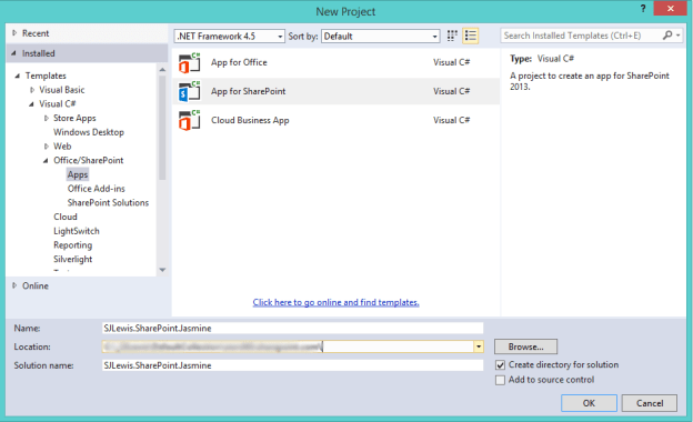 App for SharePoint project