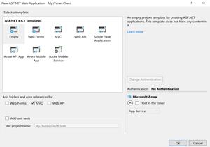 ASP.NET 4.6.1 Template options