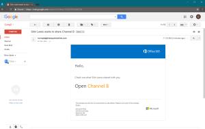 Email Invite to Microsoft Teams Folder
