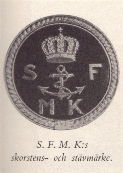 SFMK emblem för skorsten och stäv på fartyg.