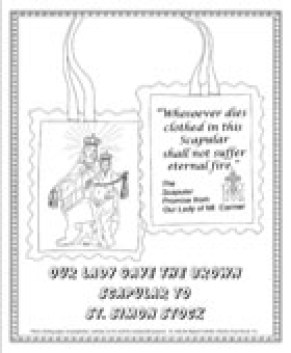 The Brown Scapular Coloring Page
