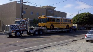 gallery-tow truck hauling a bus