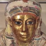 Mummy, 30 BCE-395 BCE Human remains, linen, gold, brass Unknown artist Egyptian