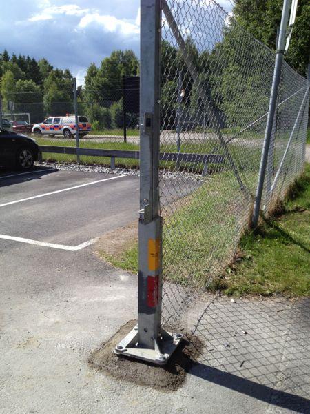 grindstolpe, parkeringsgrind