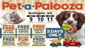 Celebrate Pet-a-Palooza with Burlington Country Store! @ Burlington Country Store | Burlington | Washington | United States