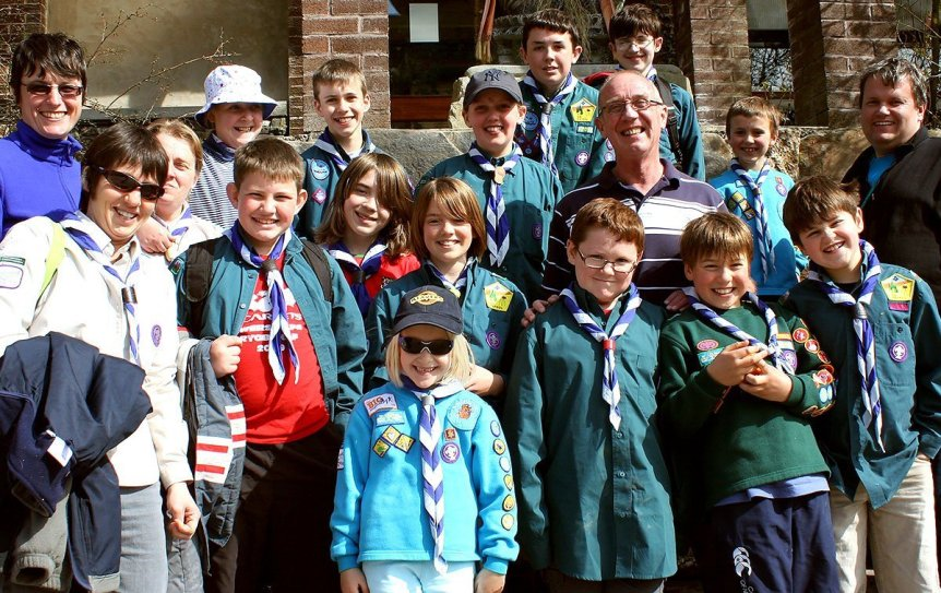 A group of Carmarthen cubs and scouts on an educational visit to Skanda Vale multi faith monastery