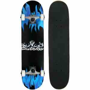 KPC PRO Skateboard Complete Krown Blue Flame Review