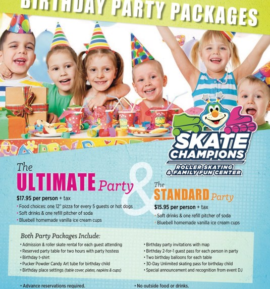 Book your birthday parties for Spring!