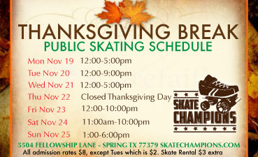 Thanksgiving Break Schedule