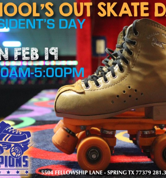 President's Day All Day Skate Mon Feb 19th