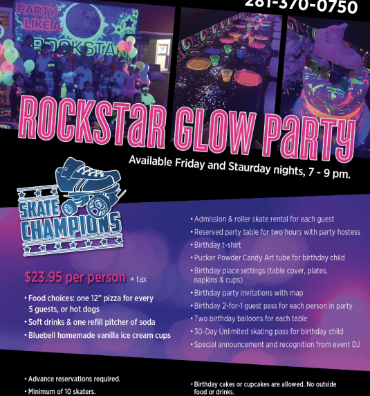 Rockstar Blacklight Glow Parties