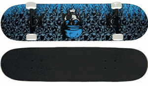 Krown Pro Skateboard Complete Blue Flame - best skateboard brands for beginners