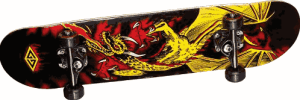 Powell Golden Dragon Flying Dragon 2 Complete Skateboard - good skateboards for beginners