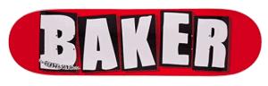 Baker Skateboard Complete Brand Logo White - baker skateboard decks