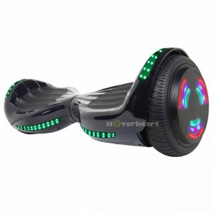 A very sturdy and well built hoverboard that can support weights of up to 220lbs. A 36V battery has been fitted which can help you go speeds up to 10 mph over the range of 10 miles. The hoverboard is surrounded with LED flashing lights that keeps you lit up on the road if you decide to go out at night. 6.5 inch tires with built in Bluetooth speakers and an anti fire plastic cover._Best Hoverboards