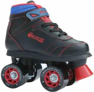 Chicago Boys Sidewalk Roller Skate- Black _Best roller skates for kids_skates_skateboarding
