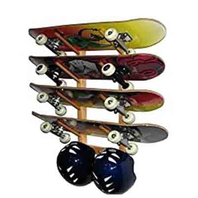 212 Main Wooden Angle Skateboard Display Rack